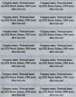 40 Clear Personalised Name Stickers Vinyl Tag / Label, 4.7 X 1.5 CM, Waterproof
