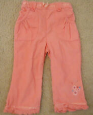 Baby Girls Corduroy Pants 18 Months Pink Elastic back Waistband