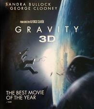 GRAVITY [BLU-RAY 3D + BLU-RAY] [2013] [REGION FREE] [2015] NEW DVD