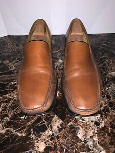 Cole Haan Men 13 M US Slip On Loafers Moc Toe Dress Tan Brown Leather C05195