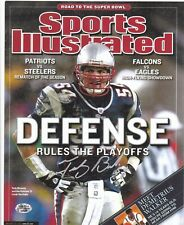 TEDY BRUSCHI  NEW ENGLAND PATRIOTS  SPORTS ILLUSTRATED COVER SIGNED 8x10