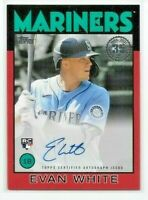 2021 Topps Series 1 EVAN WHITE 1986 On-Card RED AUTO /25 Mariners RC Autograph