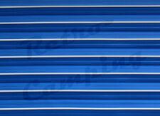 30m am Stück - blau / weiß 12mm - Leistenfüller, Kederschiene, Kederband
