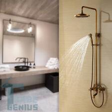 """8""""  Salle de bain Retro douche Set robinet Antique laiton Mélangeur robinet"""