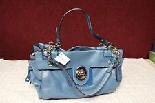 COACH F14522 BLUE LEATHER SATCHEL W/TAG  14W X 9H X 6D- MAKE OFFERS!!!!