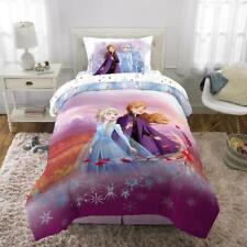 Twin Size Kids Frozen 2 Bed In Bag Bedding Set Soft Reversible Comforter 4 Piece