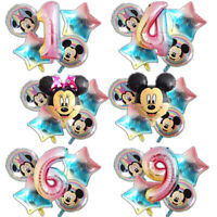 Mickey Minnie Mouse Rainbow Balloons Birthday Balloons Unicorn Party Princess