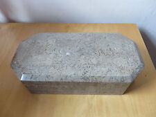 NEW - UNUSUAL STONE JEWELLERY / COFFEE TABLE BOX - Playing Cards