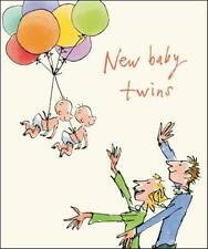 Quentin Blake Nuevo Bebé Gemelos rango de las tarjetas de saludos popular tarjeta de felicitación