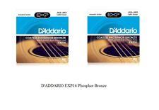 OFFERTA 2 SET CORDE D'ADDARIO EXP16 Phosphor Bronze LIGHT 012/053 CHITARRA ACUST