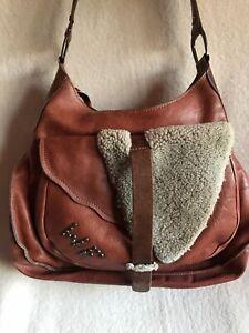 WHITE FLIRT bag, Danish, unusual pockets Leather , Sheepskin