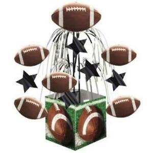 Three Football Party Birthday Decoration Cascade Centerpiece One Foot High