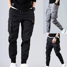 Men's Casual Hip Hop Harem PantsTrousers Cargo Joggers Streetwear Fashion Pants