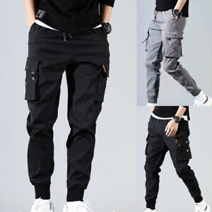 Men's Casual Hip Hop Harem Pants Trousers Cargo Joggers Streetwear Fashion Pants