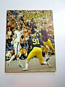 1973 NCAA TULANE vs LSU FOOTBALL PROGRAM HISTORIC UPSET 14 - 0 NEW ORLEANS, LA