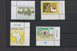 Burkina Faso 2016 Cycling/Post Office/Sculpture/Philatelic Hub issues MNH