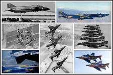 USN Blue Angels F-4 Phantom 1969-1973 Collage 8x12 Aircraft Photo