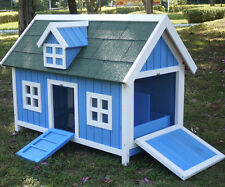 RABBIT OR CHICKEN HEN HOUSE COOP POULTRY ARK RUN BRAND NEW HUTCH BLUE BARN