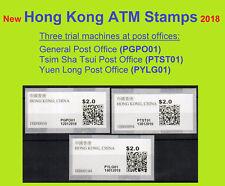 Hong Kong China new ATM 2018 at three pilot machines $2.0 MNH each / Frama