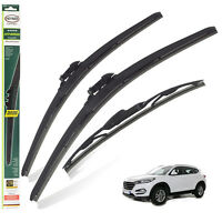 Ffiat 500 Models 2007 To 2019 Heyner Germany Super Flat Wiper Blades Front Replacement Set 2414 HSF2414TL