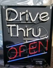 Drive Thru Open Bar Light Beer Neon Sign