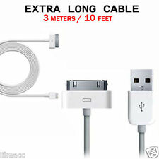 3m / 10ft Extra Long USB Data Sync Charge Charging Cable Lead for iPod Touch 4 3