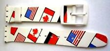 Swatch Replacement 17mm Plastic Watch Band Strap Flags