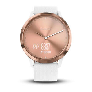 Garmin Vivomove HR Hybrid Smartwatch Activity Size Small Medium White Rose Gold