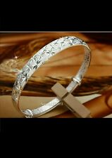 925 STERLING SILVER SPECIAL LEAF FASHION bangle lady girl jewellery gift +BAG