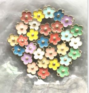 100pcs Small flower alloy beads pendant earrings bracelet jewelry accessories