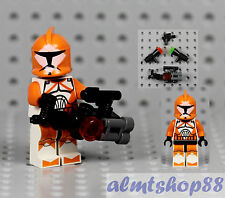 LEGO Star Wars - Bomb Squad Trooper Minifigure w/ Hand Cannon 7913 Orange Marks