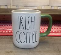 Rae Dunn by Magenta - IRISH COFFEE Green Handle Ceramic St. Patrick's Mug
