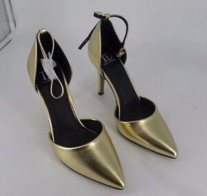 True Decadence Strap Gold Heeled Shoes Size UK 5 EU 38 rrp £28 JS41 21 SALEs
