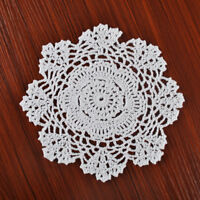 4Pcs/Lot Vintage Hand Crochet White Doilies Round Cup Coasters Snowflake 8inch