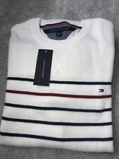 Tommy Hilfiger Whitr Striped Sweater Size XL New With Tags