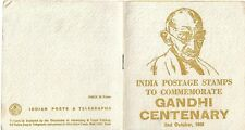 1969 Gandhi Centenary Booklet Shows Stamps Issued for Centenary Front back and