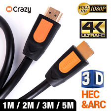 HDMI Cable 3D Ultra HD 4K 2160p 1080p High Speed with Ethernet HEC ARC V1.4