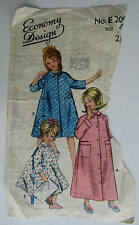 Economy Design GIRLS DRESSING GOWN Vintage Pattern.