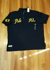 Mens Ralph Lauren BIG & TALL Varsity 67 Polo RL Script Blue Rugby Shirt Sz XLT