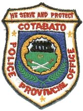 Philippines National Police PNP Cotabato Provincial Police Office Patch 4 x 3in