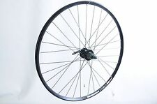 700c 622 x 19 REAR WHEEL 8/9 CASSETTE DISC HUB TREKKING BIKE BLACK DUAL WALL RIM