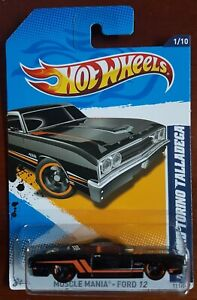Hot Wheels Muscle Mania 69 Ford Torino Talladega 1:64 Black