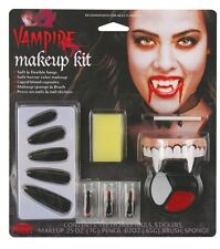 Vampiress Complete Makeup FX Kit Halloween Costume Accessory With Nails & Teeth