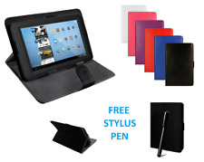 "Funda y base rebatible de cuero universal adapta a Alcatel 1T 10 -10.1"" pulgadas Tablet + Pluma"