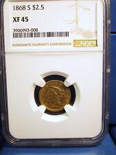 1868 S Quarter Eagle $2.5 Gold Xf45 Ngc