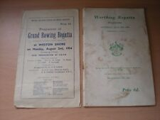 A Worthing & Woolston & District Regatta Rowing Programmes From 1956 & 1954