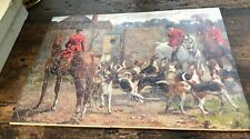 """Vintage Pastime Jigsaw Puzzle """"Leaving the Kennels"""" 1930 Parker Brothers"""