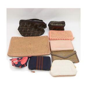 Fendi Christian Louboutin other Vanity Bag Wallet Pouch Clutch 9pc set 525451