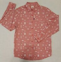 Brooklyn's Own Rocawear Red Button Down Shirt Men's Size M Streetwear Brand New