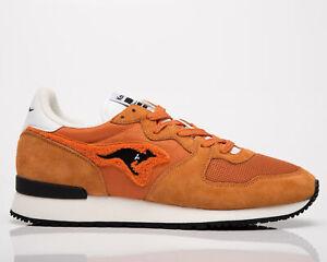 KangaROOS Aussie Men's Orange Black Low Casual Athletic Lifestyle Sneakers Shoes